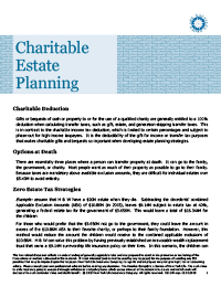 charitable estate planning